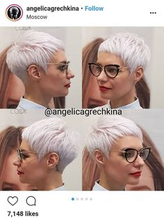 Hairstyle Pictures Women # short Braids with undercut Hairstyle Pictures Women - Frisyrer Funky Hairstyles, Short Hairstyles For Women, Braided Hairstyles, Short Grey Hair, Short Hair Cuts, Short Blonde, Pixie Cuts, Short Braids, Short Afro