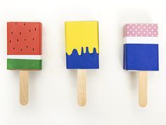 Fabulous DIY Anleitung Bonbonverpackung in Eisform aus Streichholzschachteln basteln via DaWanda