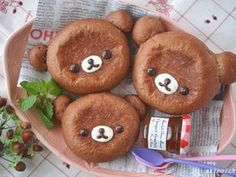 Bear cocoa bread