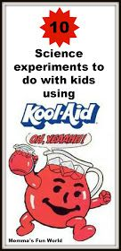 I have made the play dough many times for my kids and they loved it and it smells good. Sounds like some fun things to do for summer Momma's Fun World: Science experiments for kids using Kool-Aid