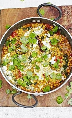 Jamie Oliver's Chickpea coconut curry dish...This is an Indian Dish.