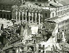 Munich Centralstation in 1945 after Bombardement