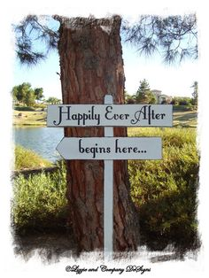 Directional Wedding Signs, cute idea