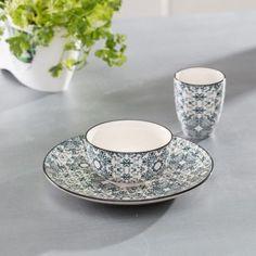 Miska Maroccan Ink    #keramika#miska#jedalen#kuchyna#cosyandtrendy#ranajky Cosy, Tea Cups, Tableware, Dinnerware, Tablewares, Dishes, Place Settings, Cup Of Tea