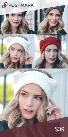 ✨Cat Ear Headband-IVORY✨ Cute cat ear headband perfect for this fall & winter ❤️. Aluna Levi Accessories Hair Accessories