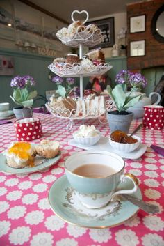 Who can resist a nice cup of tea and a home-made cake or two?  This is afternoon tea in Kent the Garden of England.  It's time for a cuppa.  One lump or two.  Photo: kent-life.co.uk