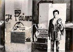 Rimbaud sérigraphié, par Ernest Pignon Ernest, Paris, 1978.