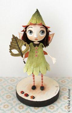 Fée des Bois, OOAK doll by chloeremiat on Etsy https://www.etsy.com/uk/listing/290909869/fee-des-bois-ooak-doll