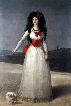 1795- 13a  Duchess of Alba by Francisco José de Goya y Lucientes (Alba family collection)