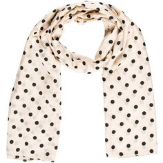 Pre-owned Sonia by Sonia Rykiel Silk Polka Dot Scarf ($65) ❤ liked on Polyvore featuring accessories, scarves, pattern prints, polka dot scarves, silk shawl, sonia by sonia rykiel, pure silk scarves and patterned scarves