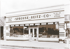 Sprouse & Reitz drug store in downtown Laguna Beach in the early 1900s.