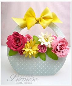 Flower Basket Card By Rebeccadeeprose