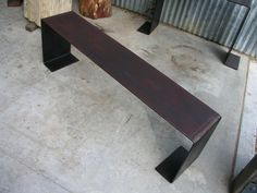 Ferrous bench-Holmes Wilson next to pool ideal Bench Furniture, Street Furniture, Outdoor Furniture, Outdoor Decor, Mountain Home Exterior, Futuristic Furniture, Coffee Table Design, Benches, Hammock
