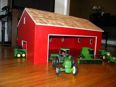 Toy Barn... Great gift idea for a kid that has lots of tractors!
