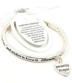 Accessory Accomplice Silvertone Engraved Serenity Prayer Heart Charm Stretch Bracelet Accessory Accomplice http://www.amazon.com/dp/B00I0BHTXC/ref=cm_sw_r_pi_dp_-u79tb0F0CW7N