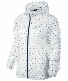 Nike Girls Laufjacke Cyclone Jacket - weiß #running