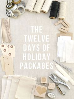This month I will be sharing twelve holiday packages! / sallyjshim