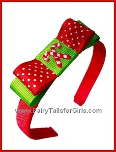 hair bow ideas | Christmas Tuxedo Hair Bows