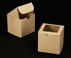 individual cupcake box, 4 x 4 x 4; $30.67 for 100 with free shipping