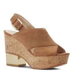 Imena Peep Toe Cork Wedge Sandals | Nine West