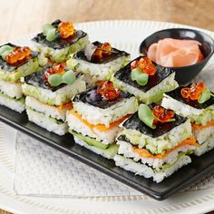 Salmon and Lobster Sushi Stack