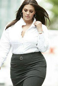 business attire for plus size women Fashion Mode, Curvy Fashion, Plus Size Fashion, Girl Fashion, Fashion Black, Petite Fashion, Style Fashion, Look Plus Size, Plus Size Model