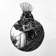 "64 Suka, 1 Komentar - Doni Tinambunan (@donibunan) di Instagram: ""Warrior soul . . . #illustration #illustratedmonthly #arrtposts #dailyartistiq #drawing #sketchbook…"""