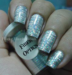 Fiber optics nail foil tutorial