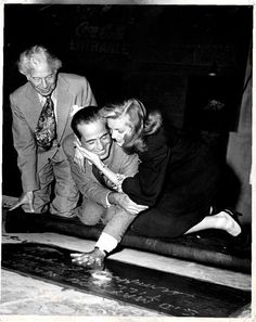 Bogie and Bacall at Grauman's Chinese Theater. #monogramsvacation