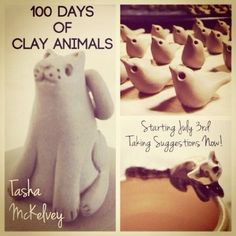 100 Days of Clay Animals - some really interesting pieces and a fun idea for a challenge.
