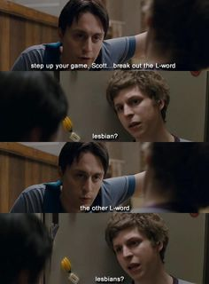 """Scott Pilgrim vs. The World. Seriously love this movie! """"I'm in lesbians with you"""".. Haha"""