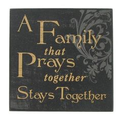 A Family That Prays... Wood Wall Sign | Shop Hobby Lobby