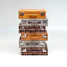 """Highland 6 Drawer Suitcase Dresser ~ """"With 6 stacked suitcases, this unusual dresser is ideal for keeping a gentleman's clothes in order."""" ~ Not exactly sure how this opens up for each drawer, but the concept is really cool!"""""""