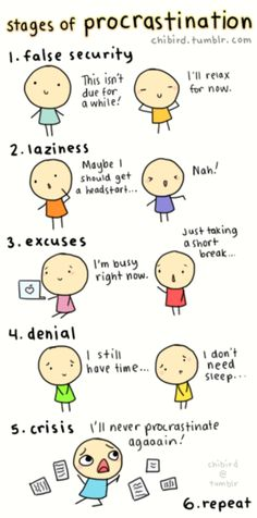 procrastination..sounds like me lol..but..There is in fact a step 7 for me..I work best under pressure ;) lol
