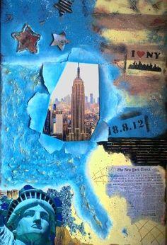 Canvas, mixed media, New York Acryl