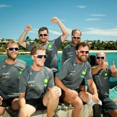 2012 - 1st Row 2 Recovery crew's arrival in Barbados.