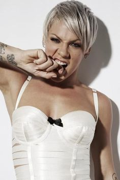 Nobody compares to pink she is absolutely soo unique so beautiful and so talented . Theres not one song of hers I don't like !