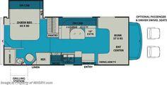 New 2017 Coachmen Leprechaun 210RS RV for Sale at MHSRV $68 W/Swivel Seats & Ext TV Floorplan