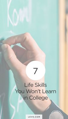 Life skills they skipped over at college!  levo.com