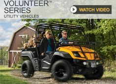 Volunteer™ Utility Vehicles •Unsurpassed 1,400-lbs. payload capacity and more than 40 attachments. •Abundant power with heavy-duty gas and diesel engine options. •1-year residential limited warranty.