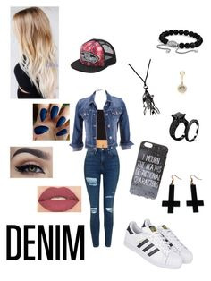 """Denim"" by georgina08 ❤ liked on Polyvore featuring Forever 21, Topshop, maurices, Smashbox, adidas, Vans, Chicnova Fashion, NAKAMOL, David Yurman and River Island"