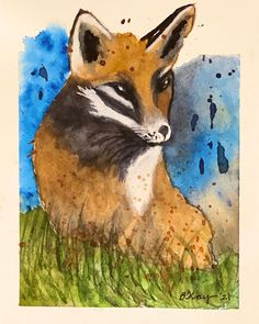 "Barbara Ford on Instagram: ""#watercolorfox Kind of fun to do #loosewatercolor but still not my favorite style. #watercolorpractice #watercolor"" Watercolor Fox, Be Still, Moose Art, Ford, My Favorite Things, Painting, Animals, Instagram, Style"