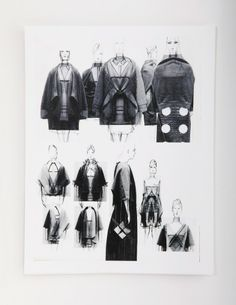 Fashion Sketchbook - fashion design illustrations; collection development; fashion portfolio // Geoffrey Beene
