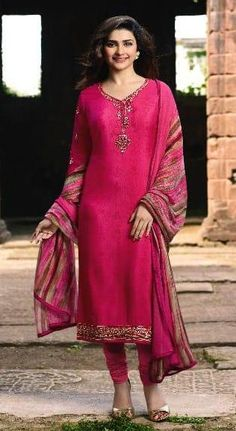 ae791d5c37 Prachi desai rani wedding straight cut suit online which is crafted from  crepe fabric with exclusive embroidery work. This stunning designer  straight cut ...