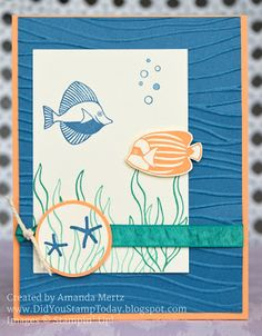 Did You Stamp Today?: Fish in the Aquarium - Stampin' Up! Seaside Shore - Fab Friday 94