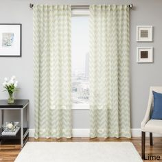 Fleur Chevron Back Tab Sheer Curtain Panel | Overstock™ Shopping - Great Deals on Sheer Curtains
