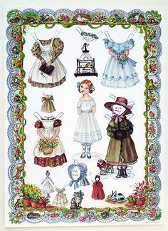 "RARE ""Little Amelia"" Paper Doll by Tasha Tudor Jenny Wren Press 1990 