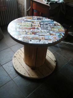 Touret table basse id e d co fabriquer loisirs for Fabriquer table mosaique