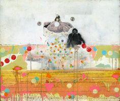 Michael Cutlip, Totem, 28x24  mixed on panel