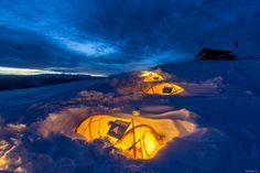 Salewa Basecamp - die Nacht in Eis und Schnee   Italy